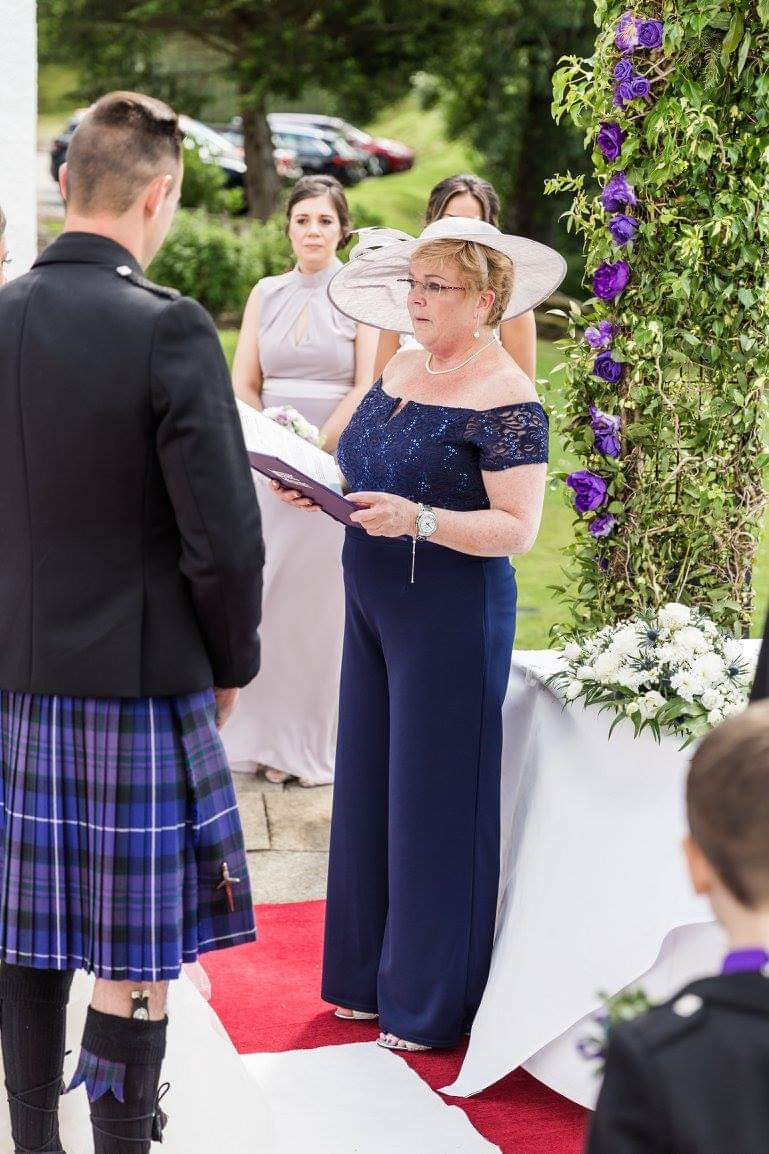 Mary Delivering a ceremony