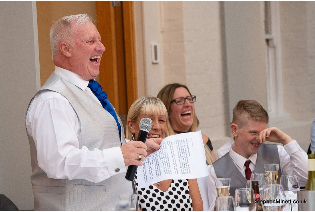 man making a speech at a wedding what doe guests remember
