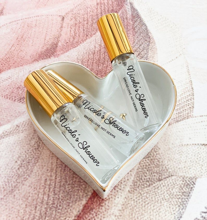 personalised hand sanitizer to make a small wedding fun