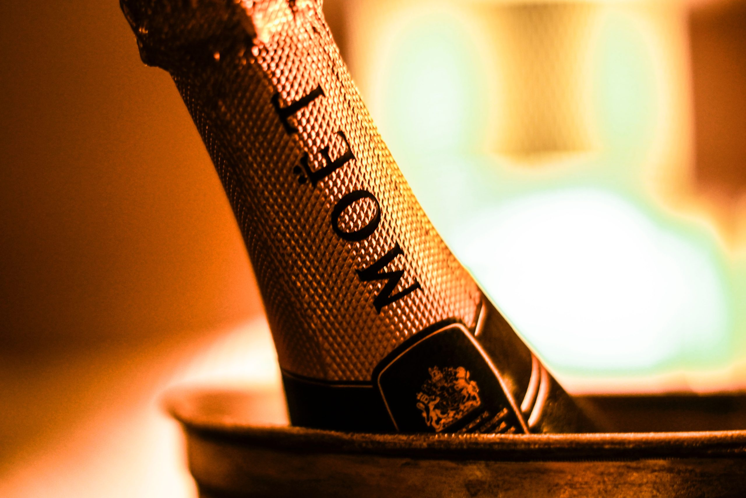 photo of bottle of moet how to get legally married in aberdeen with the celebrant angel
