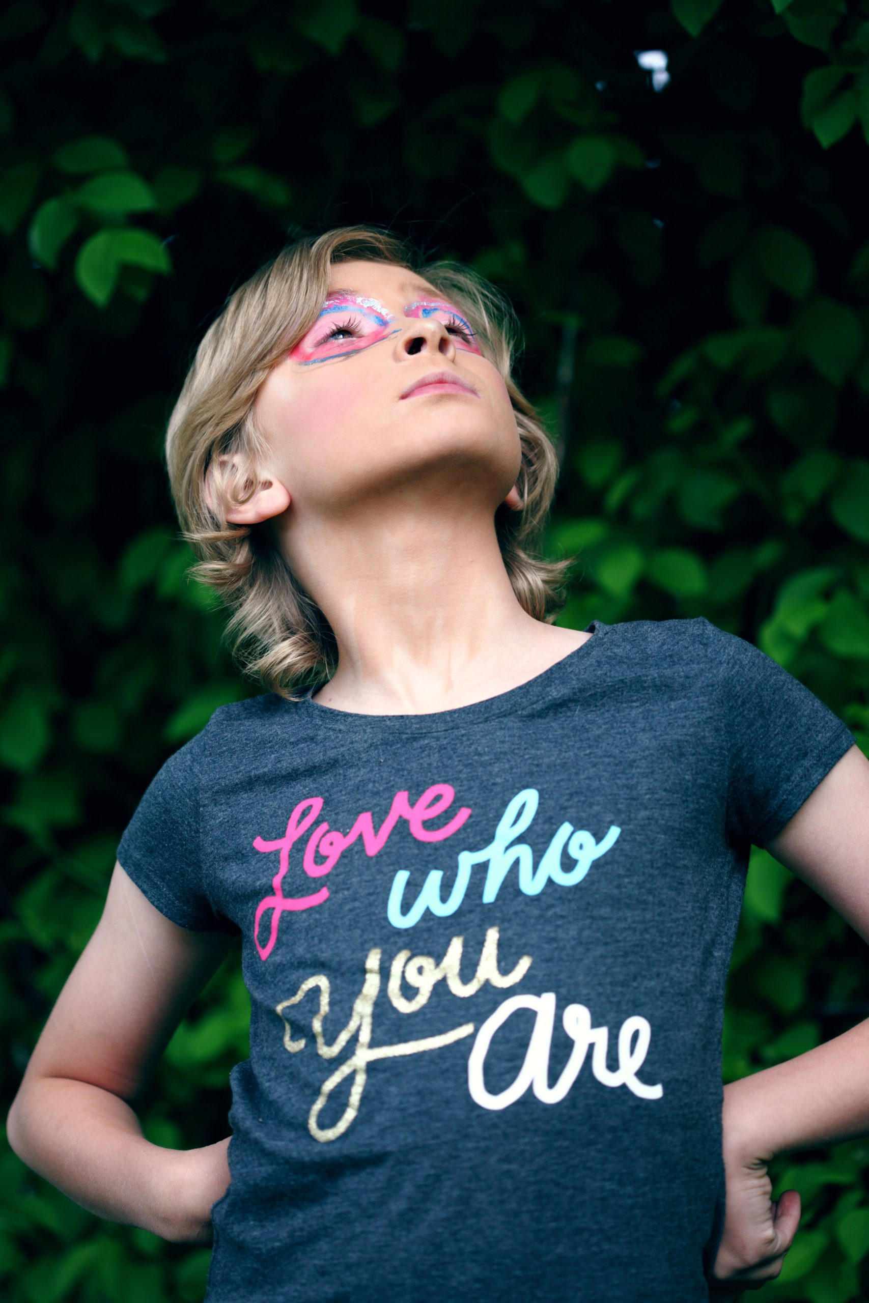 young child with a tshirt saying love who  you are on it family and naming ceremonies in aberdeen