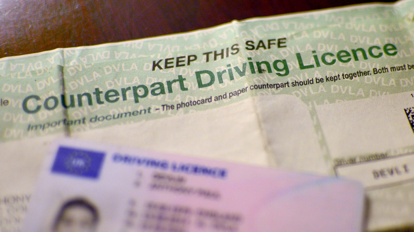 photo of driving licence name change checklist with the celebrant angel